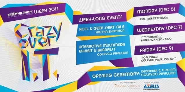 CompSAt Week 2011 Promotion Poster